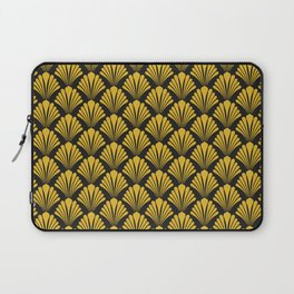 Art Deco Sophisticated and Luxurious Gold Fan Pattern Laptop Sleeve