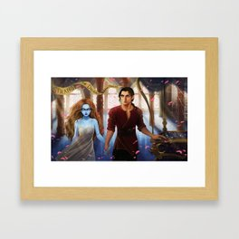 The Muse of Nightmares and the Dreamer Framed Art Print