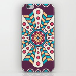 Purple Fun Mosaic Boho Pattern iPhone Skin