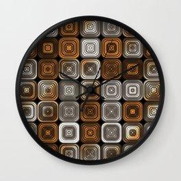 Geometric chocolate pattern Wall Clock