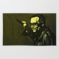 u2 Area & Throw Rugs featuring U2 / Bono 1 by JR van Kampen