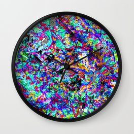color chaos bywhacky Wall Clock