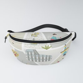 Rome Map Fanny Pack