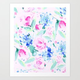Scattered Lovers Pink Art Print