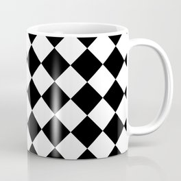 Contemporary Black & White Gingham Pattern - Mix and Match Coffee Mug