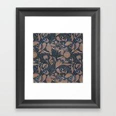 Carved Floral Pattern Framed Art Print