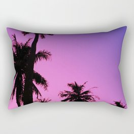 Tropical palm trees with purplish gradient Rectangular Pillow