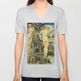 Edward Burne-Jones  - Perseus and Andromeda - Digital Remastered Edition Unisex V-Neck