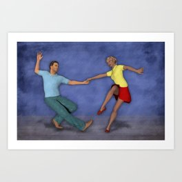 Lindy Hop Art Print