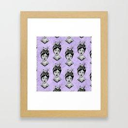 Beth's Nest Pattern Framed Art Print