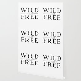 Wild and Free Silver Wallpaper