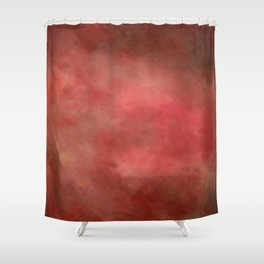 Abstract Watercolor Gradient Blend 2 Deep Red and Yellow Shower Curtain