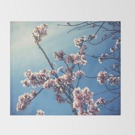 Plum Blossoms Throw Blanket