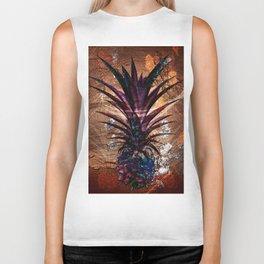 Copper Leaf Pineapple Art #buyart Biker Tank
