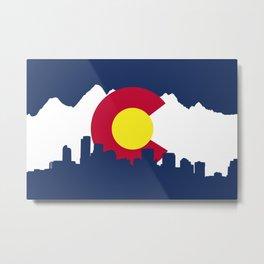 Born and Raised - Colorado Metal Print