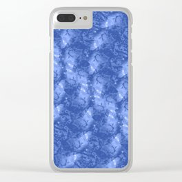 Blue and White Waves in a Pool; Fluid Abstract 42 Clear iPhone Case
