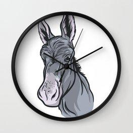 donkey Portrait Wall Clock