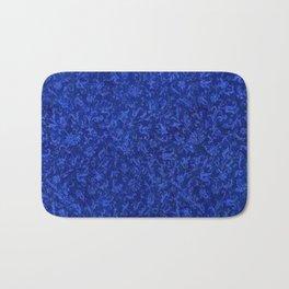 Vintage Floral Sapphire Blue Bath Mat