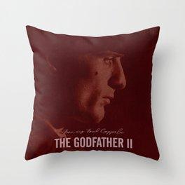 The Godfather Part II, Robert De Niro, Al Pacino, American movie poster Throw Pillow