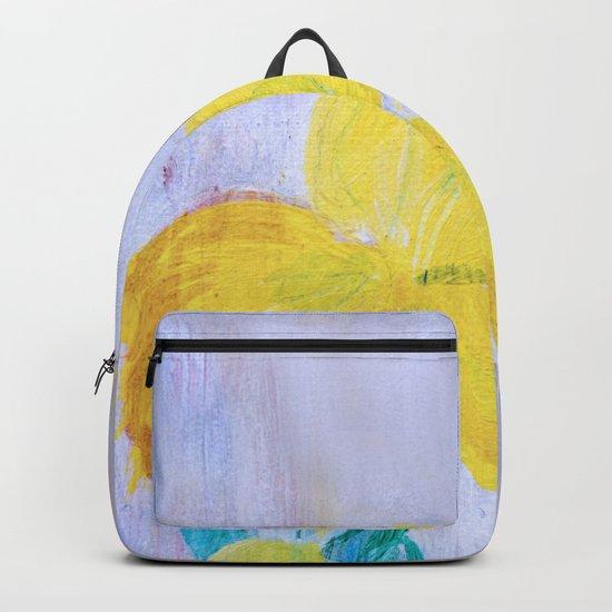yellow summer iris 2 Backpack