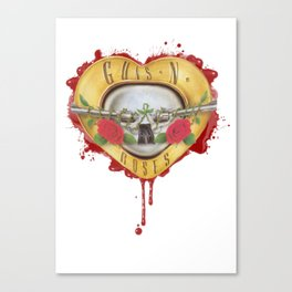 BULLET HEART Canvas Print