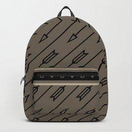 Arrows Flying (Gray Black) Backpack