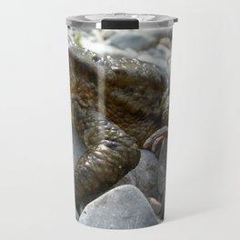 Bufo Bufo Toad Lounging On Stones Travel Mug