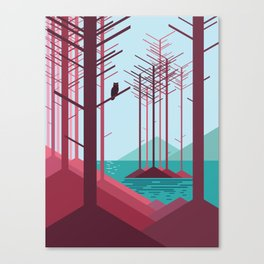 The guardian of the forest Canvas Print
