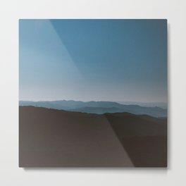 Mystical blue mountain horizon | Photography Metal Print