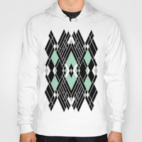 art deco Hoodies featuring Art Deco Zoom Mint by Project M