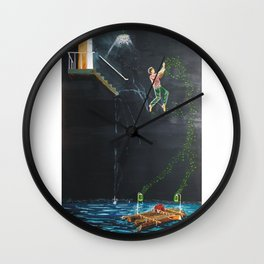 Jump into the river Wall Clock