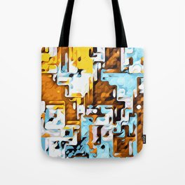yellow brown and blue Tote Bag