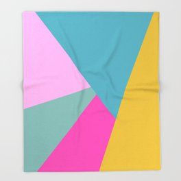 Bold Color Block Design Throw Blanket