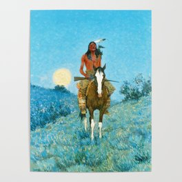 Frederic Remington - The Outlier, 1909 Poster
