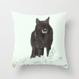 Wolf's snow Throw Pillow