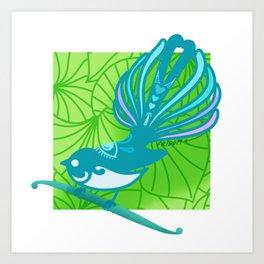 Piwakawaka - Fantail Art Print