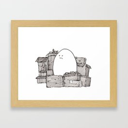 Hoarder Egg Framed Art Print