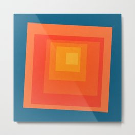 Homage to the Square Metal Print
