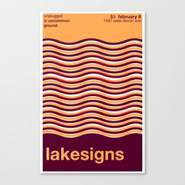 Lakesigns Poster - Uncommon Ground 2-8-2012 Canvas Print
