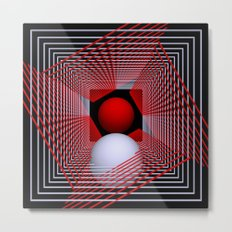 experiments on geometry -4- Metal Print