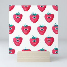 Cry Berry Pattern Mini Art Print