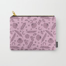 Sea Witch - repeating - pink Carry-All Pouch