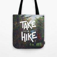 backpack Tote Bags featuring Take A Hike by Zeke Tucker