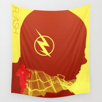 flash Wall Tapestries featuring Flash by Frank DeAngelo