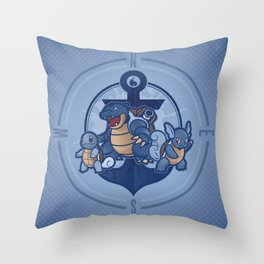 Team Blastoise Throw Pillow