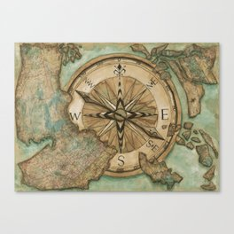 Nautical Compass Canvas Print