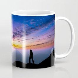 sunset hiker Coffee Mug