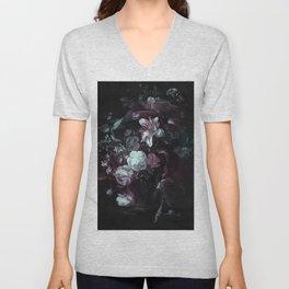 Flowers in a Vase - violet Unisex V-Neck
