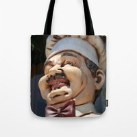 chef Tote Bags featuring CHEF by Andrea Jean Clausen - andreajeanco