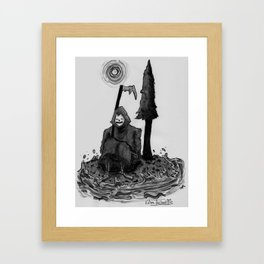 need a break Framed Art Print